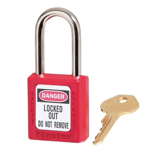 MASTERLOCK  410RED RED ZENEX™ THERMOPLASTIC SAFETY PADLOCK