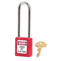 MASTERLOCK 410LTRED RED ZENEX™ THERMOPLASTIC SAFETY PADLOCK