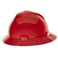 MSA 454736-HELM MSA FULLBRIM RED COLOUR C/W STAZ-ON