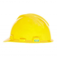 MSA 463944- HELMET V GARD MSA USA YELLOW C/W STAZ - ON