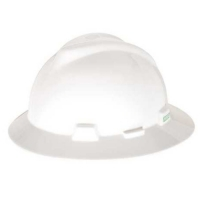 MSA 454733-HELM MSA FULLBRIM WHITE COLOUR C/W STAZ-ON