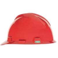 MSA 463947- HELMET V GARD MSA USA RED C/W STAZ-ON
