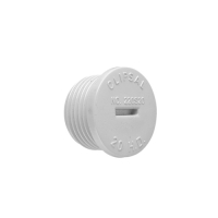 CLIPSAL 220S25 CONDUIT ENTRY PLUG, SCREWED, 25MM, GREY