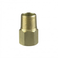 CLIPSAL 1235NPT2 CONDUIT ADAPTOR, BRASS, 3/4-14 X M20X1.5, MNPT TO FEMALE