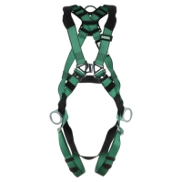 MSA HARN,VFORM,STD,SIDE AND BACK D-RING, QWIK-FIT LEG STRAP 10197200