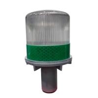 LAMPU DELIMAS / SAFETY CONE TENAGA SURYA HIJAU