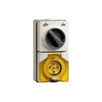 Clipsal Type 56C520 Switched Socket Outlet, 500V, 20A, 5 Round Pin, IP66, 3 Pole