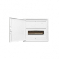 Switchboard Enclosure, Series 4FC, 11 Module, Full DIN Rail, Flush Mount