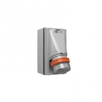 Appliance Inlet, 5 Round Pin, 32A, 500V, IP66, Grey