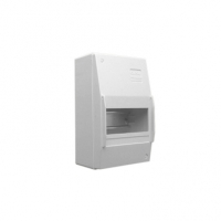 Switchboard Enclosure, Series 4CC, 6 Module, Surface Mount, Full DIN Rail