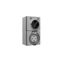 Switched Socket Outlet, 500V, 50A, 4 Round Pin, IP66, 3 Pole
