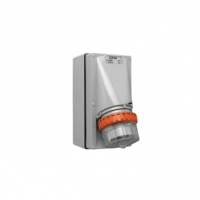 Appliance Inlet, 4 Round Pin, 32A, 500V, IP66, Grey