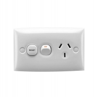 Clipsal Type 15XRZ Single Switch Socket Outlet, 250V, 10A, Under Voltage Relay