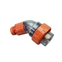 Plug Top, Angled, 5 Round Pin, 10A, 500V, IP66