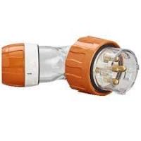 Plug Top, Angled, 5 Round Pin, 40A, 500V, IP66, EO