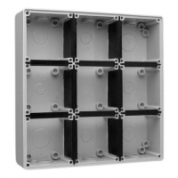 Mounting Back Box, In Line, 9 Gang
