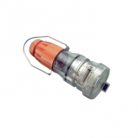 Pendant Outlet, 5 Round Pin, 50A, Electric Orange