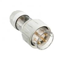 Plug Top, Straight, 4 Round Pin, 50A, 500V, IP66