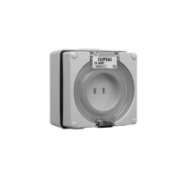 Surface Socket Outlet, 2 Parallel Flat Pin, 10A