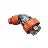 Plug Top, Angled, 4 Round Pin, 10A, 500V, IP66