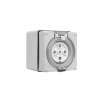 Clipsal Type 56SO532 Socket Outlet, 5 Pin Round, 32A, Grey