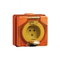 Surface Socket Outlet, 3 Round Pin, 10A