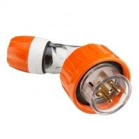 Plug Top, Angled, 5 Round Pin, 20A, 500V, IP66, EO