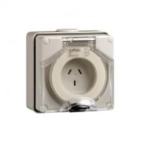 Socket Outlet, 3 Flat Pin, 250V, 10A
