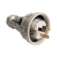 Plug Top, Straight, 3 Flat Pin, 10A, 250V, IP66