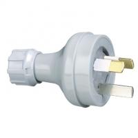 Plug Top, Straight, 3 Pin, 10A, 250V