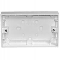 Mounting Box, 2 Gang, 149x89x30mm, White Electric