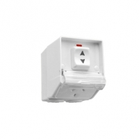 Single Switch Socket Outlet, 250V, 10A, Weather Proof, Surface Mount