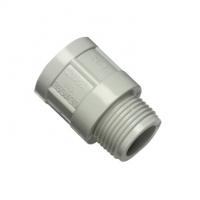 Clipsal Type 263/16 Conduit Adaptor, PVC, 16mm, Plain to Male, Grey