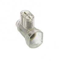 Cable Connector, Two Screw, Clear Insulated, Brass