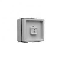 Surface Switch, 1 Gang, 1 Pole, 250VAC, 10A, Intermediate Sliding, Grey