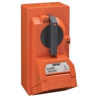 Switched Socket Outlet, 500V, 63A, 5 Round Pin, IP66