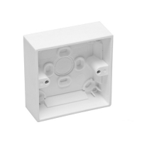 Mounting Box, 1 Gang, 89x89x30mm, White Electric