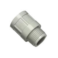 Clipsal Type 263/32 Conduit Adaptor, PVC, 32mm, Plain to Male, Grey