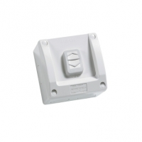 Surface Switch, 1 Gang, 250VAC, 10A, WS Series, Intermediate, Resistant Grey