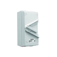 WHT55 Isolator Switch, 3 Pole, 55A, Resistant Grey