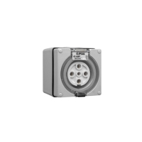 Socket Outlet, 5 Pin Round, 40A