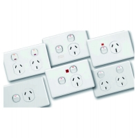 Single Switch Socket Outlet, 250V, 15A, Under Voltage Relay