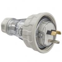 Plug Top, Straight, 3 Pin, 10A, 250V, IP66, Grey