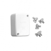 Junction Box, Giant, 45x86x58mm, with 1 Earth, 3 Active Loose Connector, White Electric