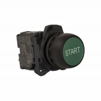 Sprecher Schuh D7PF30HS1PX10HS-Pushbutton 22.5 mm Plastic Flush Green Start