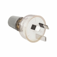 HPM 100LCL 10 Amp 3 Pin Plug Top - Clear